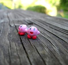 Super Nintendo Kirby Earrings  Videogame Fanart by CreativeTsurera,