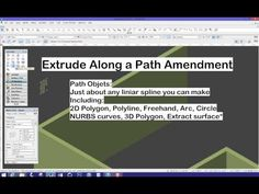 Extrude Along a Path Amendment - YouTube