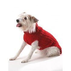 Crochet Dog Coat in Bernat Super Value. Discover more Patterns by Bernat at LoveKnitting. We stock patterns, yarn, needles and books from all of your favorite brands.