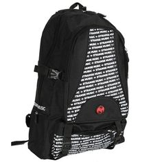 b041258e52dd Strange Music - Black Backpack Strange Music