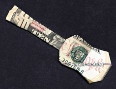 Money Origami Guitar - Made with $10 Bill