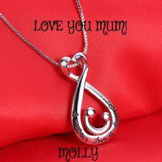 de6124831226 Love You Mum! - Heart Necklace - Women s Jewellery - Miss Molly   Co.