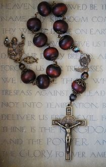 Heirloom Cherry Wood One Decade Rosary