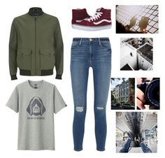 """""""Peter Parker Inspired #1"""" by emily-is-a-penguin-44 ❤ liked on Polyvore featuring Uniqlo, Knutsford, Vans and Frame Denim"""