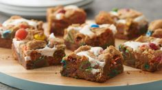NEW 3-Ingredient Marshmallow M&M Cookie Bars