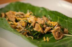 Low-Carb Cilantro Chicken Wraps Recipe {with Teriyaki Sauce}