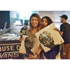 is going off in Toronto! These two pretty ladies just scored some limited edition tees by London Instagram, Pretty Woman, Paper Shopping Bag, Toronto, Vans, House, Home, Haus, Van