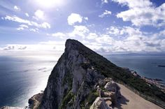 Rock of Gibraltar. See 2 bodies of water, 2 continents, & 3 countries all from this rock Rock Of Gibraltar, British Overseas Territories, Iberian Peninsula, Cadiz, Andalusia, Nature Reserve, Dream Vacations, Continents, Places Ive Been