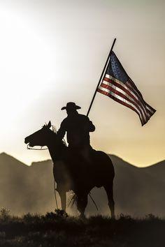 Horse silhouette - Cowboy -Jason Whitman