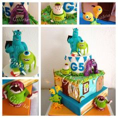 Cake Monster Accademy #monsteruniversity# #cake# #cakedesign# #gisteracake# #MarvelousMonstersUniversityCake# #monster#