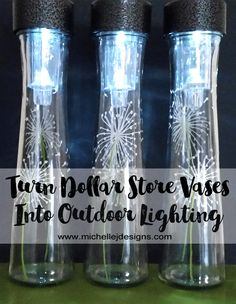 Dollar Tree Crafts - Dollar Store Vases in Outdoor Lighting - DIY Ideas and Cr ., Dollar Tree Crafts - Dollar Store Vases in Outdoor Lighting - DIY Ideas and Cr . Dollar Tree Crafts, Dollar Tree Store, Dollar Stores, Dollar Dollar, Half Dollar, Solar Light Crafts, Diy Solar, Solar Lamp, Diy Craft Projects