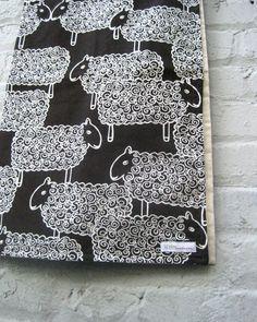 organic mod sheep baby blanket