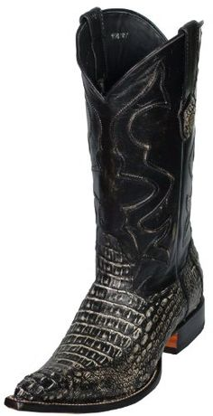 Handcrafted Lucchese 1883 Black Western Crocodile Belly Cowboy ...