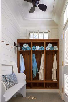 Pool house changing room. John B. Murray Architect