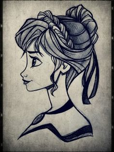 Anna from Frozen. I would like to practise drawing like this