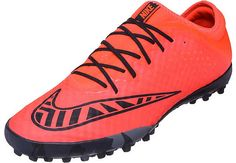 Nike MercurialX Finale Turf Shoes - Bright Crimson and Black