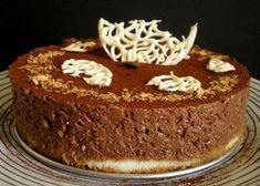 Gâteau de mousse au chocolat noir