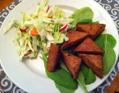 Cool Slaw and Hot Sauce-Glazed Tempeh