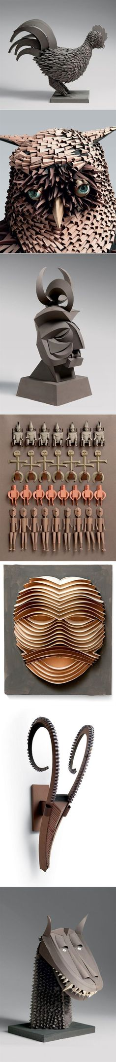 Paper sculptures by Irving Harper