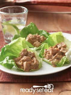 The perfect use for leftovers, Leftover Turkey Lettuce Wraps!