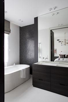 Kameleon Interiors - Beton Cir� Bathroom Black, Bathroom Lighting, Sink, Bathtub, Interiors, Mirror, Furniture, Home Decor, Bathrooms