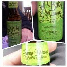 Pregnancy Announcement Beer Labels! A cute and unique way to announce your pregnancy to family and friends. Perfect for beer loving couple's!
