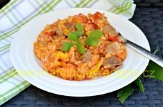 Risotto, Grains, Ethnic Recipes, Food, Red Peppers, Essen, Meals, Seeds, Yemek