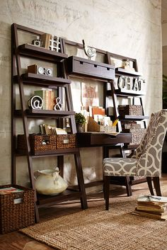 Pier 1's ladder-style bookcase gives you lots of display and storage space in a clean, contemporary silhouette. Built of pine and engineered wood for durability and strength, our Morgan Tall Shelf is finished with hand-applied color for a lightly distressed effect.