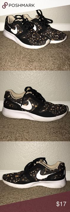 on sale a9993 8599b Nike Kaishi Black Leopard Tennis Shoes Women s 8 Nike Shoes Kaishi Black  and brown leopard pattern