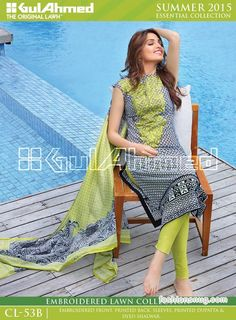 Gul Ahmed Summer Lawn Collection 2015, Prices, Photos