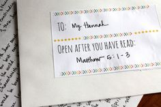 Write letters to your children after they read certain scriptures.  What a gift!  Some really great ideas and suggestions here.