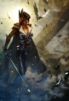 Roguish warrior. Art by Horia Dociu.  (Sexy without being objectifying!)