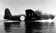 """Kawanishi H8K flying boat """"Emily"""" all-metal,4-engine, large,Type 2 Flying Boat of Imperial Japanese Navy & considered the best flying boat of WWII.Built to replace Kawanishi H6K & exceed performance of Short S.25 Sunderland & Sikorsky XPBS-1 Patrol Bomber.Specification 13-Shi called for speed of 276mph (444km/h),cruise speed of 207mph (333km/h) & range of 5,180miles (8,336km).Ordered 1938 same time predecessor,Kawanishi H6K,went into service.167 built & made 1st flight January 1941."""