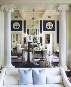 Living Room at JK Place Capri designed by Michele Bonan.