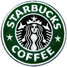 Coffee Starbucks Logo Caffè Kaffee Café Shirt Cap Jacket Suit Embroidered Iron on Patch. Top Quality Embroidered Patches with adhesive seal. Cute Patches, Pin And Patches, Sew On Patches, Iron On Patches, Jacket Patches, Starbucks Costume, Logo Tv, Starbucks Logo, Starbucks Coffee