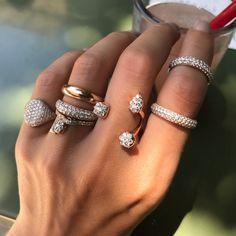 Jewelry Rings, Silver Jewelry, Jewelry Accessories, Fine Jewelry, Jewelry Design, Jewellery, 925 Silver, Silver Bracelets, Jewelry Ideas
