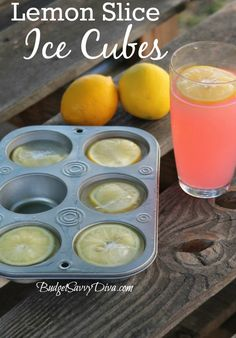Lemon Slice Cubes // gorgeous in pitchers & punches #summer #party