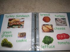 Learn to Read Recipe Book.my husband had the idea to put ideas around the kitchen for teaching our future kids food and cooking terminology or the proper names (e. noodle names). Full Day Kindergarten, Kindergarten Inquiry, Preschool Literacy, Early Literacy, Literacy Activities, Preschool Boards, Emergent Literacy, Baby Activities, Preschool Ideas