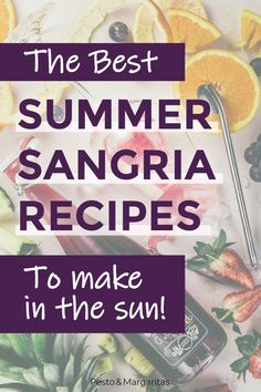 Sangria is a classic summer drink and a very adaptable cocktail recipe.  Check out these ideas and recipes on how to make the best summer sangria recipes including with white and red wine, all kinds of tasty fruit and more! #sangria #summercocktails #summerdrinks
