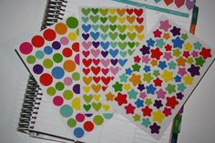 Variety Pack Colorful Stickers for erin condren life planner, filofax, plum paper. planner accessories.