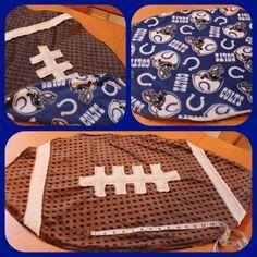 Football Baby Blanket w/ Printed Fleece Back by CherryRedDesigns, $32