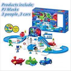 Cartoon pj masks party Command Center car parking car characters catboy owlette gekko cloak masks action figure toys vinyl doll