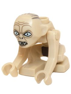 Minifig : Lego Gollum - Narrow Eyes [The Hobbit and the Lord of the Rings:The Hobbit] - BrickLink Reference Catalog The Hobbit Riddles, Lego Food, Lego Lego, Lego People, Lego Minifigs, Cool Lego Creations, Lego Parts, Lego Harry Potter, Lego Movie