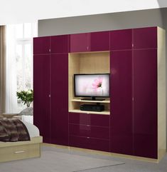Aventa Bedroom Wall Unit X-Tall - TV Wall Unit w Extra Bedroom Storage