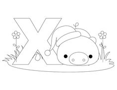 Here's a simple Alphabet Letter X coloring page and template for kids!     This Animal Alphabet Letter X coloring page for kids can be used for learning the Letter X and the word XENARTHRA!     Just drag the Letter X Coloring Page onto your desktop, print and color!