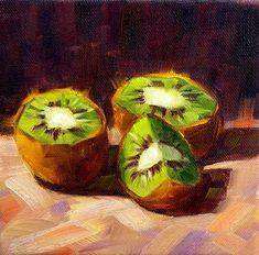 "Daily Paintworks - ""Kiwi"" - Original Fine Art for Sale - © Irina Beskina"