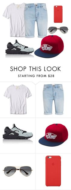 """""""keep simple"""" by sofiaoneofakind on Polyvore featuring Banana Republic, Topman, NIKE, Vans, Ray-Ban, Apple, men's fashion, menswear, Summer and Boy"""