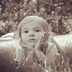My cute little cousin was a model for the day