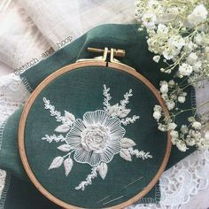 "8,041 Likes, 29 Comments - ⚪ (@handmade.embroidery) on Instagram: ""Автор @stitch_and_hoop #цветы #flowers #flower #embroidery #stitching #вышивка #ручнаявышивка"""