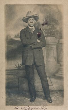 African American man posing in a cowboy hat | by simpleinsomnia